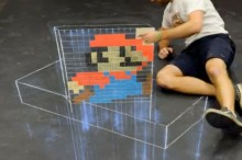 Super+Mario+-+3D+Chalk+Art+(Time+Lapse)+
